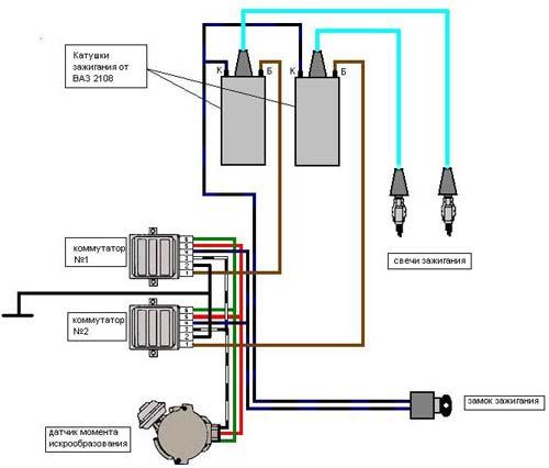 установка 2 катушек зажигания
