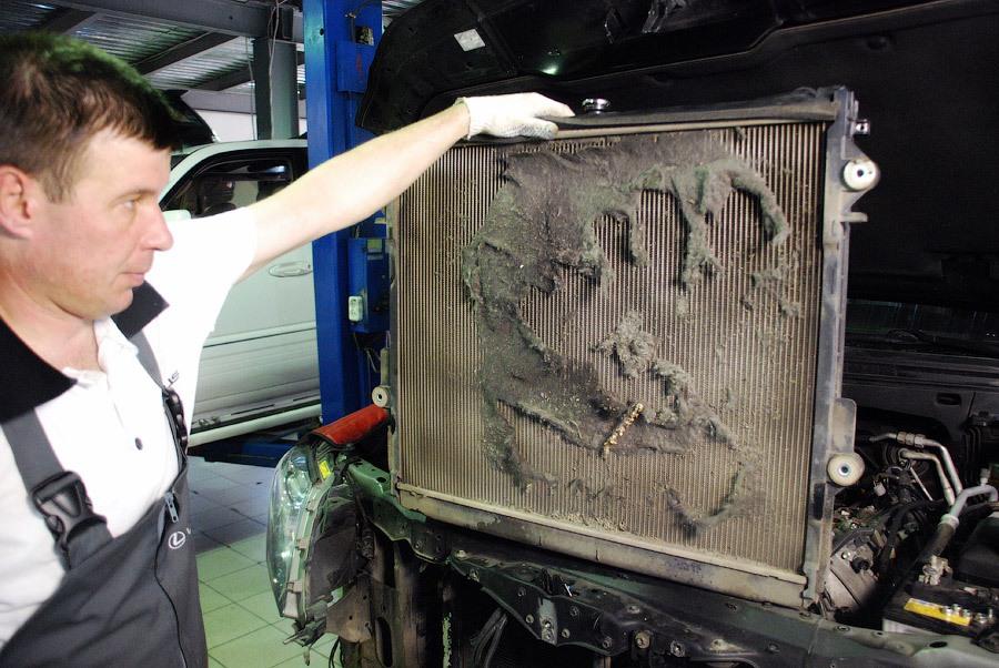 Промывка радиатора охлаждения двигателя своими руками