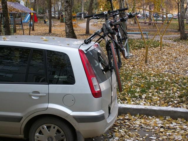 велобагажник на крышу авто