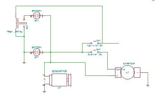 схема установки 2 аккумуляторов