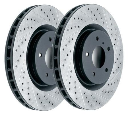 вентилируемые тормозные диски с перфорацией