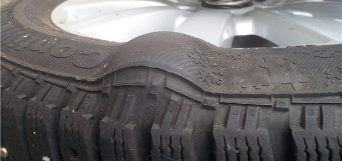 ремонт грыжи на колесе